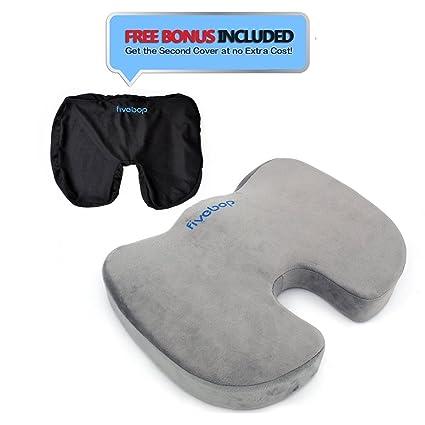 Cojín para el coxis Fivebop juego de almohadillas antideslizantes almohada, gel-mejor de espuma
