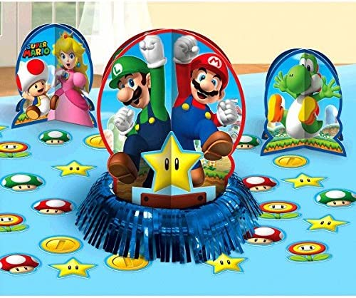 Super Mario Brothers Table Decorating Kit, Party Favor