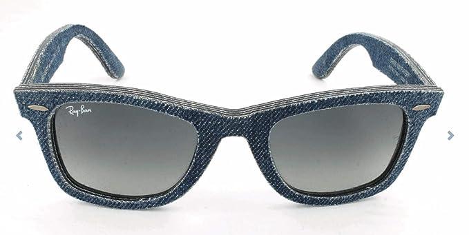 8bd3eed9bd417e Ray Ban Unisex Sonnenbrille Wayfarer, Blau (Blue Denim/Grey Gradient),  Medium