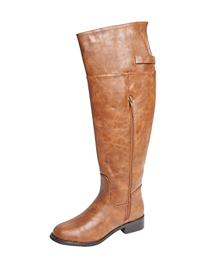 Breckelles Womens Rider-82 Riding Boot Tan 5.5