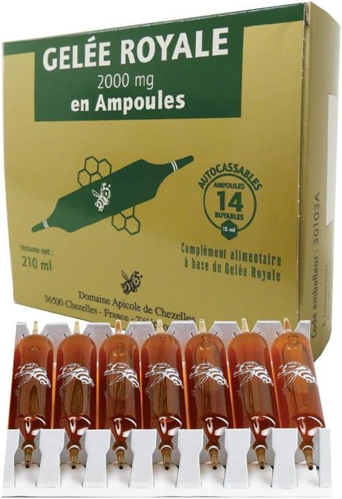 Domaine apicole de chezelles los productos de la colmena jalea real 100% natural en bombillas