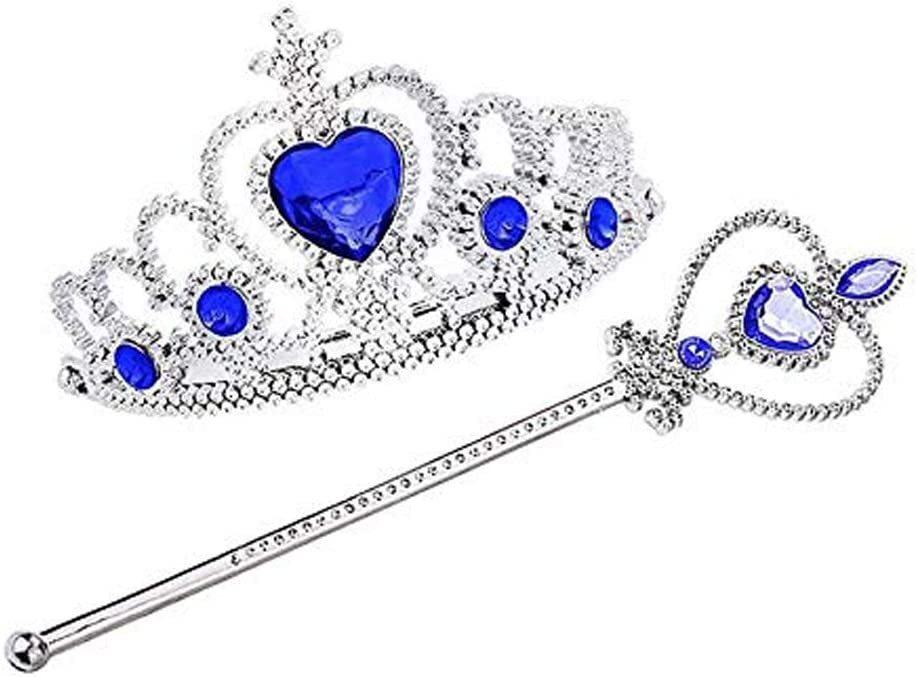Set for children perfect accessory for carnival /& cosplay Purple thematys Princess Set Diadem headdress and magic wand