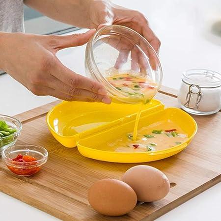 Cocinar Huevos Microondas Poche Tortilla Francesa Sana Rápida Rica Fácil Recipiente Libre BPA Incluye Recetas Pochados