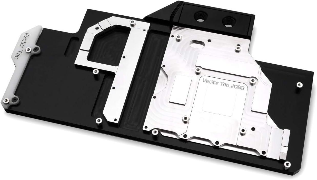 EKWB EK-Vector Trio RTX 2080 RGB GPU Waterblock Nickel//Acetal