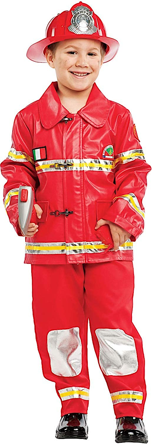 Size 6 Fancy Dress Fireman Baby Party Costumes Veneziano for Halloween Carnival Cosplay 53140