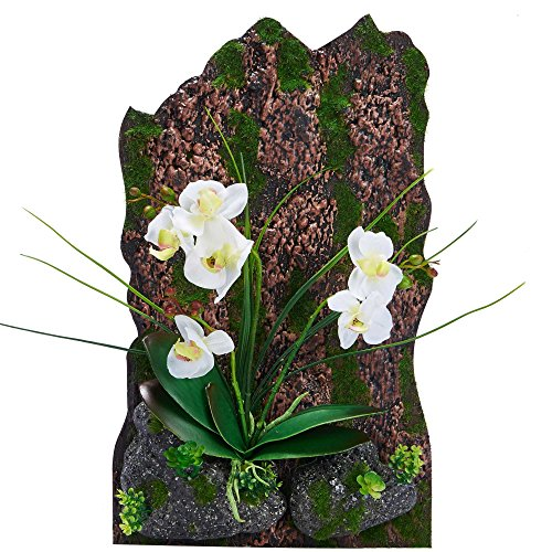 3D Frames Artificial Flowers Orchid Arrangement Table Top Decoration or Wall Mounted Sculptures (White) Christmas Corsages And Boutonnieres