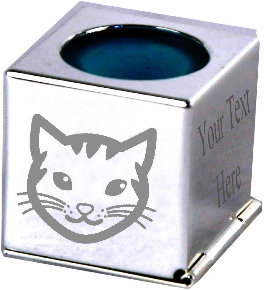 Gato – grabado personalizado plata Billar Tiza titular caso ...