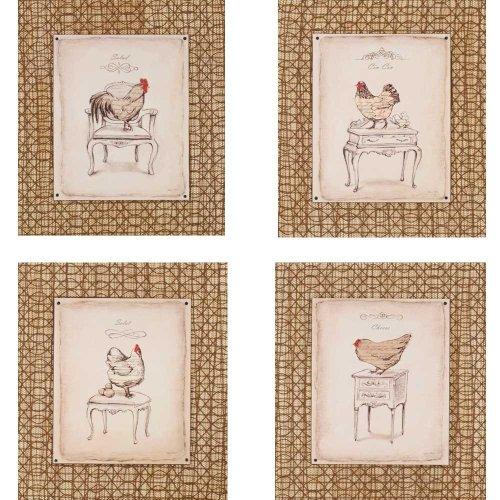 Chicks 15x17 Framed Wall Art (Set of 4) by - Framed Chicks