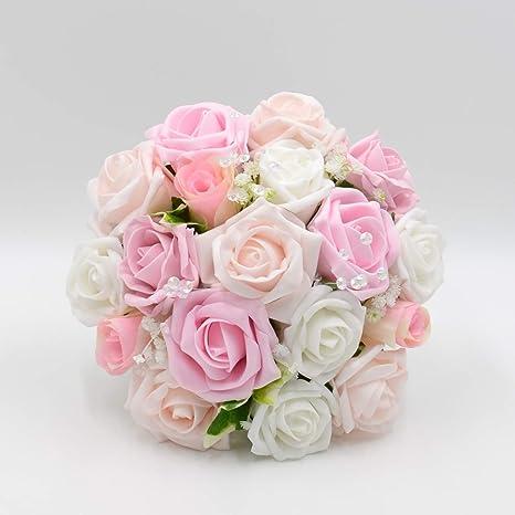 Matrimonio In Rosa : Fiori di seta matrimonio mano realizzato da petali polly per