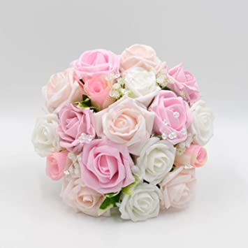 Seide Hochzeit Blumen Handarbeit Von Petals Polly Brautjungfern