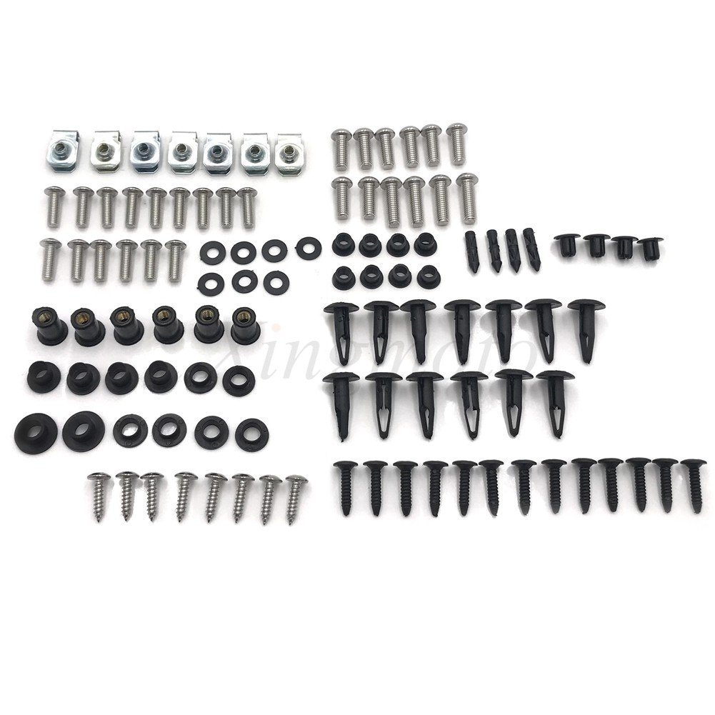 NBX- Complete Fairing Bolt Kit Stainless Body Screws for SUZUKI 2005 2006 GSXR 1000 Xingmoto