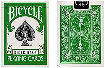 MMS Cards Bicycle Green Back USPCC Trick