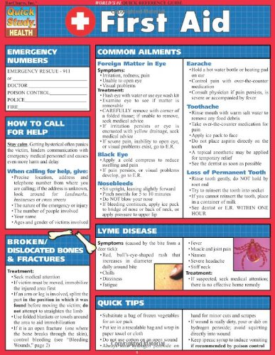 First Aid (Quick Study Health) (Aid First Guide)