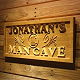 wpa0169 Name Personalized Man CAVE Beer Mug Decoration Wood Engraved Wooden Sign