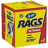 Scott Rags in a Box 75260 White 10 x 12 200 per Box (Case of 8)