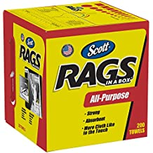 Scott Rags In A Box (75260), White, 200 Shop Towels/Box, 8 Boxes/Case
