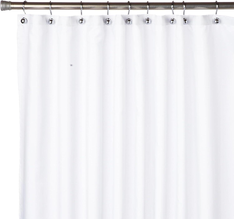 Carnation Home Fashions, Inc Nylon Shower Curtain Liner, White