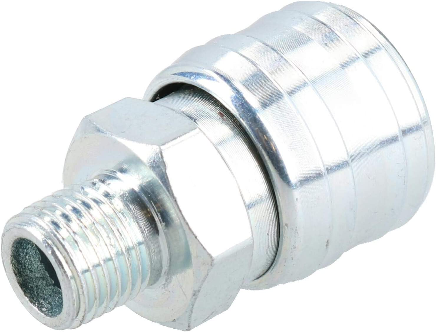 EURO Air Hose Connector Fitting Quick Release Pack With Hose Tail Barb 2pk