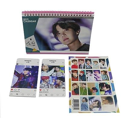 BTS Bangtan Boys J-Hope 2019 Desk Calendar with Key Ring Card(J-Hope)