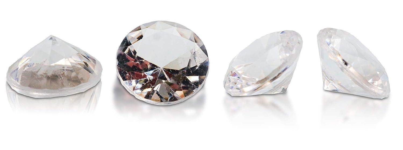 Brynnberg Dekosteine Diamanten Mix - Größe 10-30mm - Farben  Blau, Grün, Rot, Rosa, Orange, Farblos - Gewicht  4500g B07Q73Z4KM Granulate