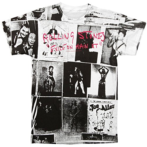 THE ROLLING STONES - EXILE - 2-SIDED ALLOVER PRINT MENS TEE