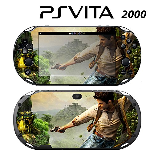 Decorative Video Game Skin Decal Cover Sticker for Sony PlayStation PS Vita Slim (PCH-2000) - Uncharted Golden Abyss