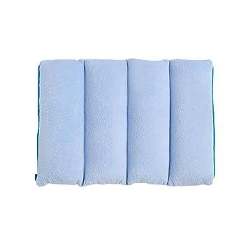 KKY-ENTER Amortiguar Cojines Felpa Paño Cuadrado Azul Color sólido ...