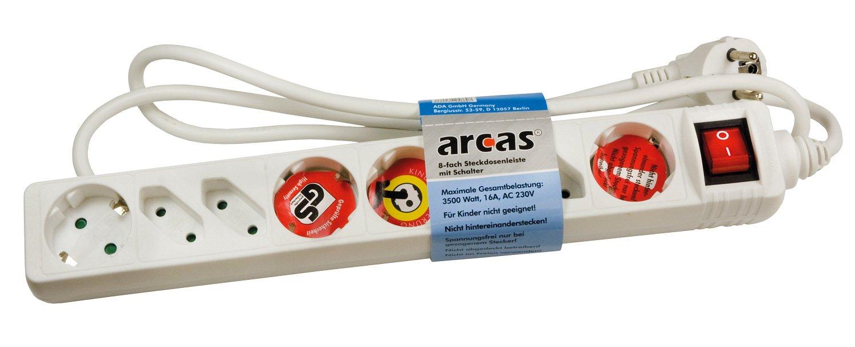 Regleta con interruptor Arcas protecci/ón para ni/ños