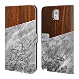Official Nicklas Gustafsson Wooden Marble Textures Leather Book Wallet Case Cover For Samsung Galaxy S5 / S5 Neo