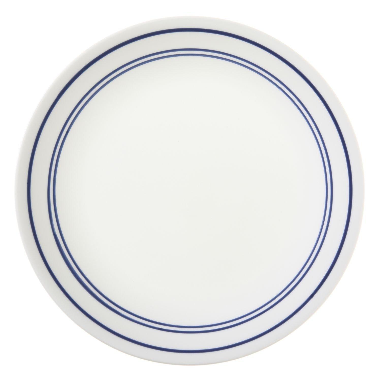 Corelle Livingware 8-1/2-Inch Luncheon Plate, Classic Cafe' Blau (6 Plates) by CORELLE