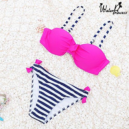 Triangolo Beachwear Donna A Umipubo Pezzi Della Colore Caramella Bagno Due Vita Rosso Da Bikini Bassa Costume x4wxC1q
