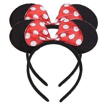 One Size Minnie Mini Mouse Ears Band Headband Head Hair band Boys Girls Party