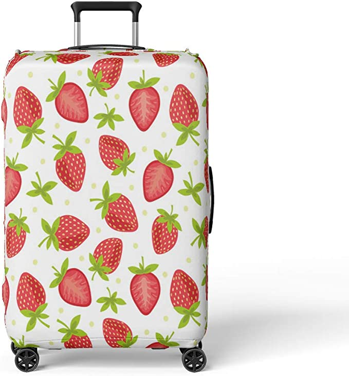 Travel Suitcase Protector Zipper Suitcase Cover Washable Print Luggage Cover Kawaii Cake