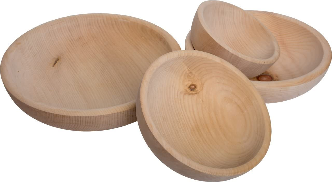 id/éal pour une corbeille de fruits un pop-corn ou un bol /à frites Bol en bois de pin /∅ 20 cm Coquille de pin avec la nature de surface en bois