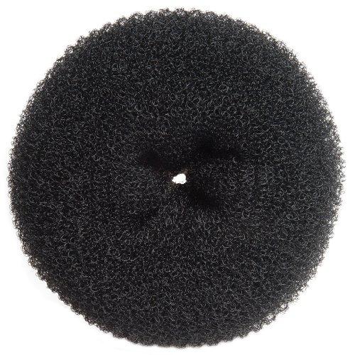 Diane Jumbo Hair Donut, Black, 5.5