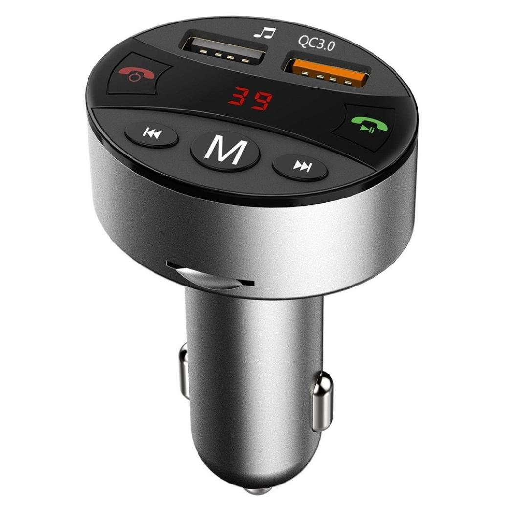 Oucan Wireless in-Car Bluetooth FM Transmitter Radio Adapter Car Kit Dual USB Charger Audio MP3 Player FM36 QC3.0 Fast Charger Oucan More