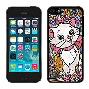 Unique Unique Marie Cat Stained Glass iPhone 5c Generation Black Case