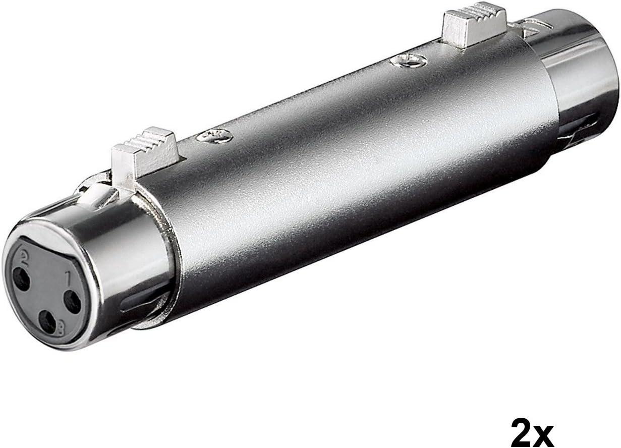 3 Pin XLR Buche zu 6,35mm AUX Klinke Stecker Stereo XLR Adapter