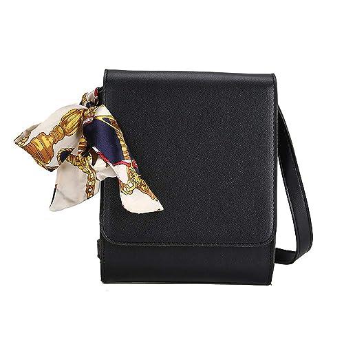 260b33825544 Amazon.com: Rakkiss Womens Crossbody Bag Fashion Solid Ribbons ...