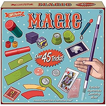 45 Magic Tricks Set Magician Kids Children Play Toys Game Illusions Card Tricks