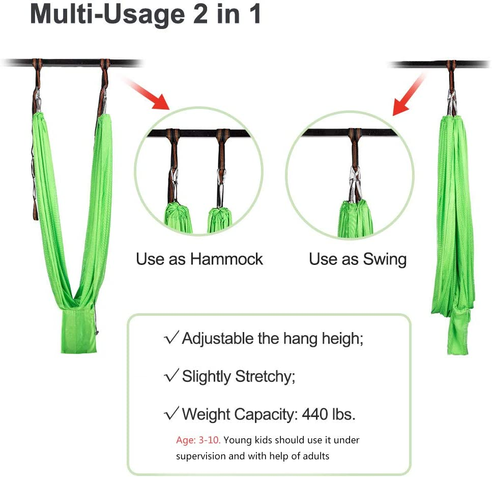 Sensory Integration Snuggle Swing Cuddle Hammock Indoor Adjustable Aerial Yoga for Children with Autism ADHD Aokitec Therapy Swing for Kids with Special Needs Aspergers Hardware Included