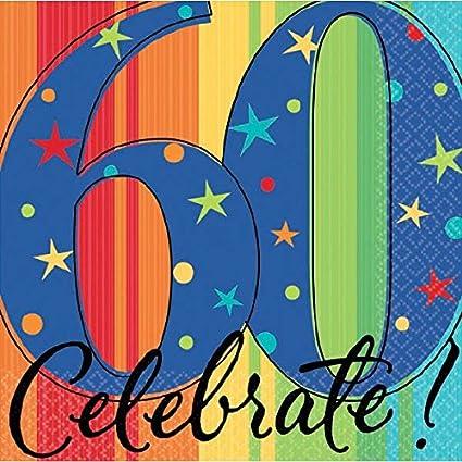 Cóctel de cumpleaños feliz celebración de los 60 Servilletas ...