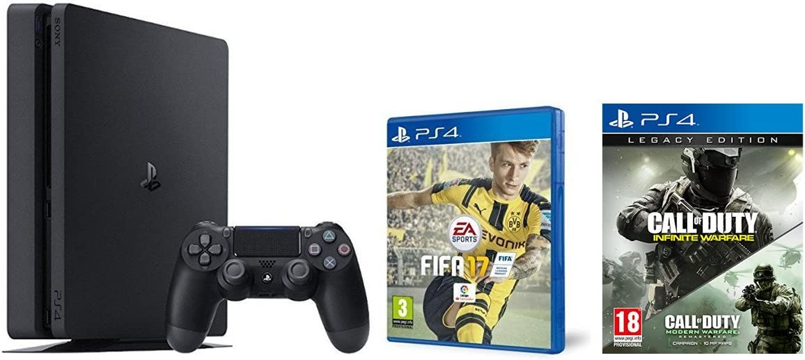 PlayStation 4 Slim (PS4) 1TB - Consola + FIFA 17 + Call Of Duty: Infinite Warfare - Legacy Edition: Amazon.es: Videojuegos
