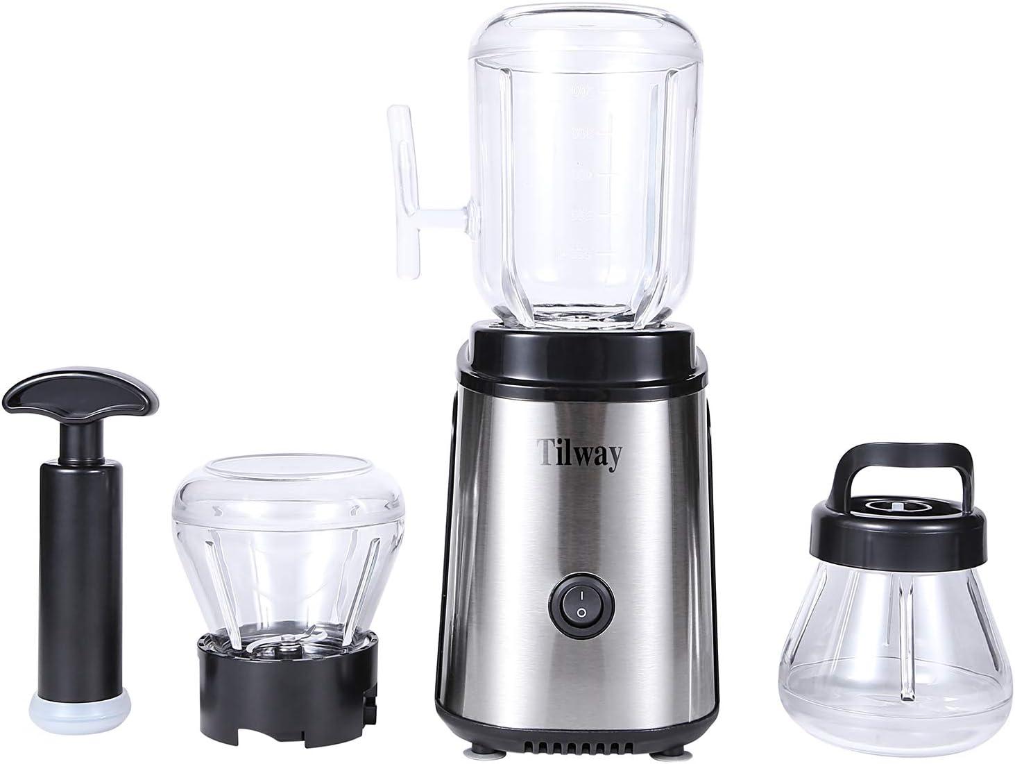 Tilway 250W 3-in-1 Multi-function Blender, 600ml Juice,fruits Vegetables, grinding ground meat, vacuum baby tonic