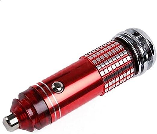 Yeshi Mini Auto Coche Anion Ozone Generador de Aire Limpiador Purificador Filtro Lonizer Oxygen, Rosso: Amazon.es: Jardín
