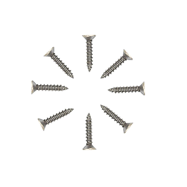 10 perchas con dos ganchos para ropa y 20 tornillos de n/íquel mate estilo retro Umsole marr/ón