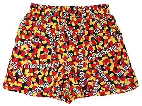 Under Disguise Halloween Me So Corny Candy Corn Sleepwear Boxers (L)