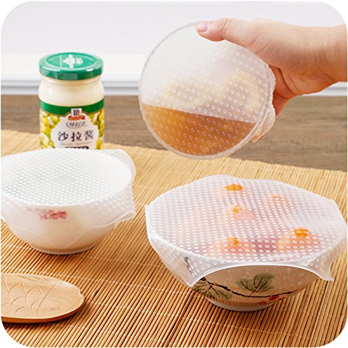 BestSet Food Cover Lid Silicone Frozen Bowl Wrap Kitchen Mic