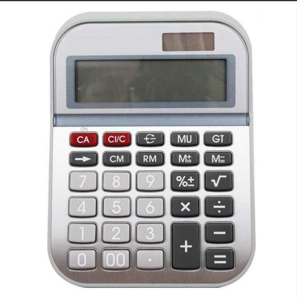 CalculatorSolar Calculator  Dual Power  12 Digits LED Large Screen  Plastic Button Office Finance