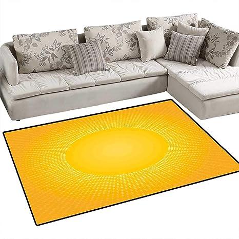 Amazon.com: Alfombra de área anticestática amarilla hecha a ...